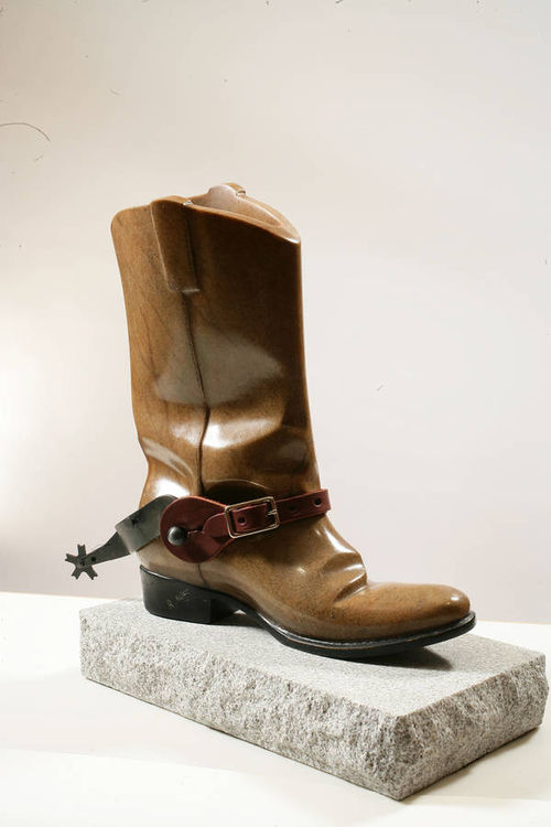 cowboy boot by Robin Antar - search and link Sculpture with SculptSite.com