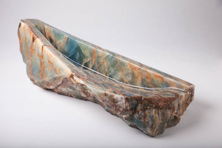 Blue Onyx Bowls by Robin Antar - search and link Sculpture with SculptSite.com