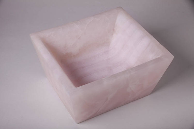 pink onyx bowl by Robin Antar - search and link Sculpture with SculptSite.com