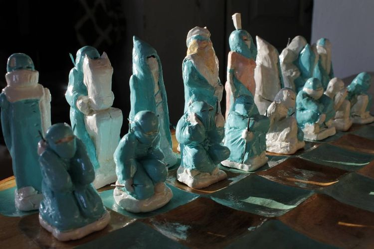 chess table by Skylight Sky - search and link Sculpture with SculptSite.com