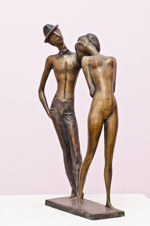 Retro 2005 year  bronza 58 x 33 x 15 sm by Zakir Ahmedov - search and link Sculpture with SculptSite.com