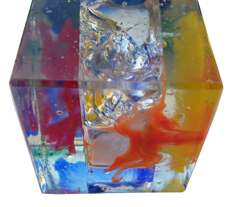 Magic cube 1 ( resin Art ) by Albert Roos - search and link Sculpture with SculptSite.com