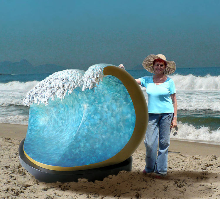 Big Copacabana Wave by Ana Lazovsky - search and link Sculpture with SculptSite.com