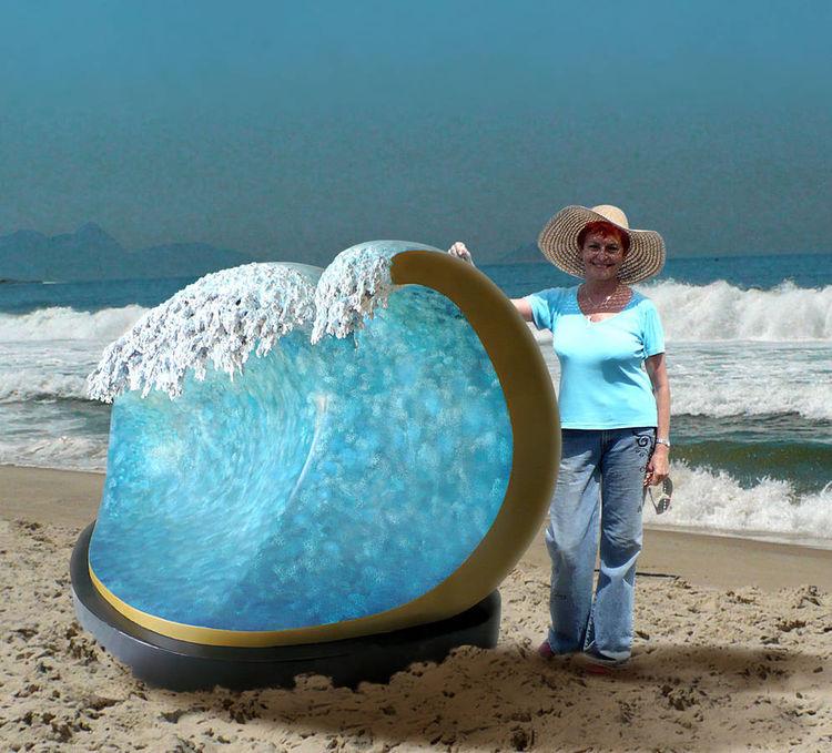 Big Copacabana Wave by Ana Lazovsky - search and link Sculpture with SculptSite.com