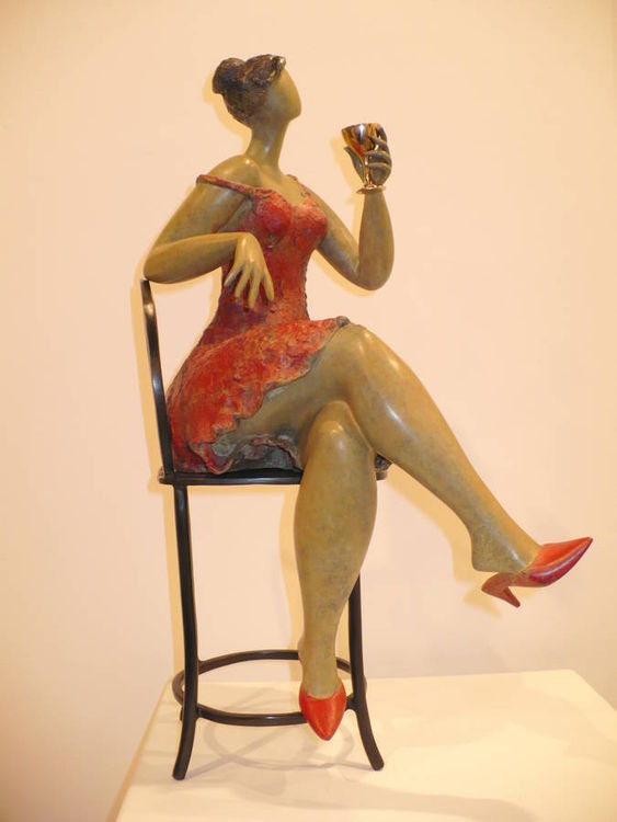 Cocktail Party by Ana Lazovsky - search and link Sculpture with SculptSite.com