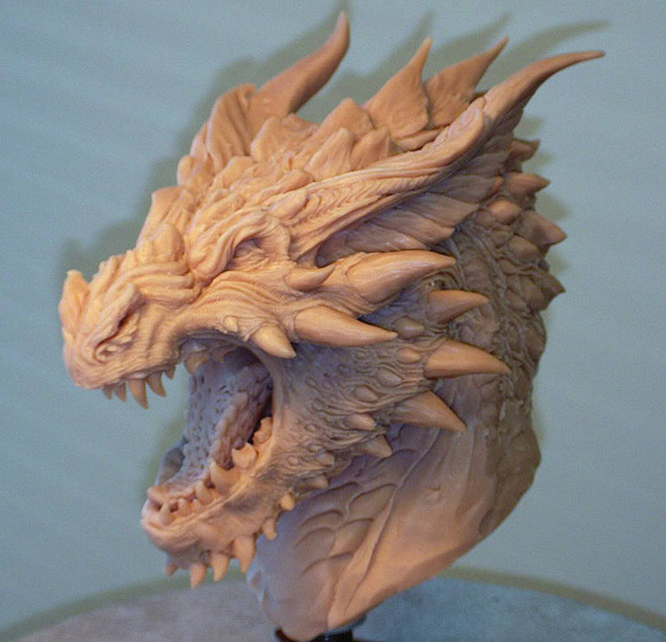 Smaug concept1 (personal) by Grant Niesner - search and link Sculpture with SculptSite.com