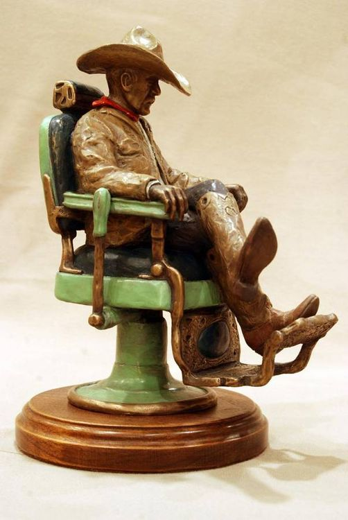 My Barber Chair by David Argyle - search and link Sculpture with SculptSite.com