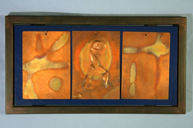 3 piece Copper Tiles by Barry W. Sheehan - search and link Sculpture with SculptSite.com