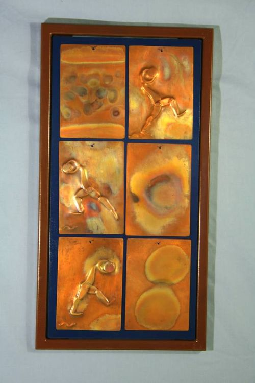 6 piece Copper Tiles by Barry W. Sheehan - search and link Sculpture with SculptSite.com
