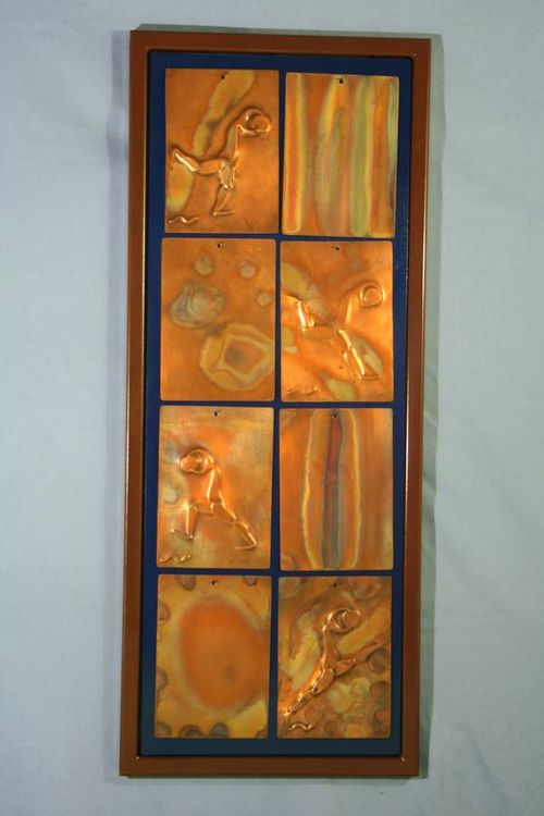 8 piece Copper Tiles by Barry W. Sheehan - search and link Sculpture with SculptSite.com