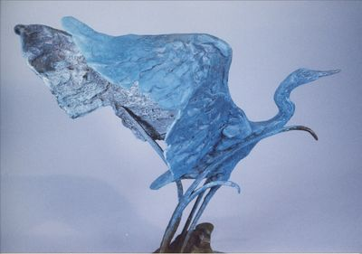 Blue Wing by Bill Batic - search and link Sculpture with SculptSite.com