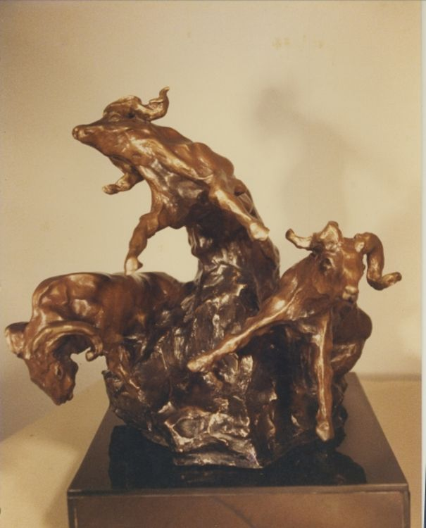 Day of The Ram by Bill Batic - search and link Sculpture with SculptSite.com