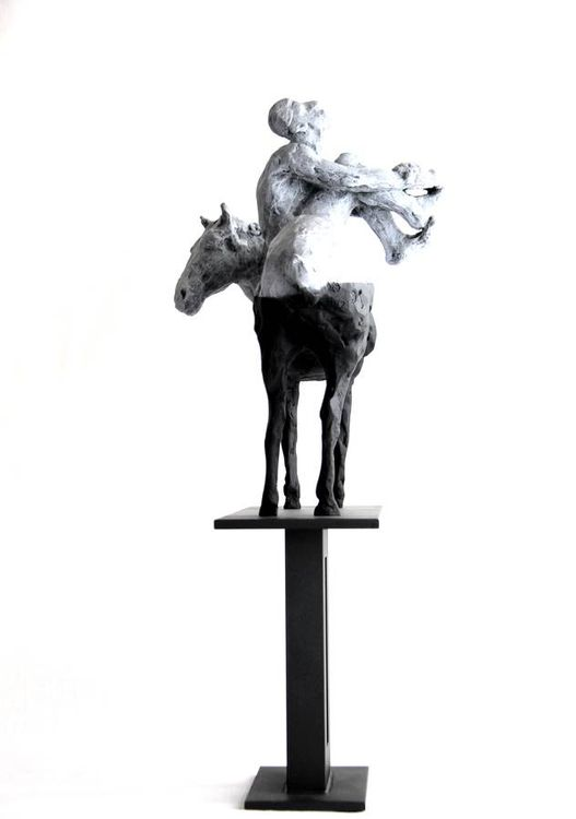 Man and the Horse by belgin yucelen - search and link Sculpture with SculptSite.com