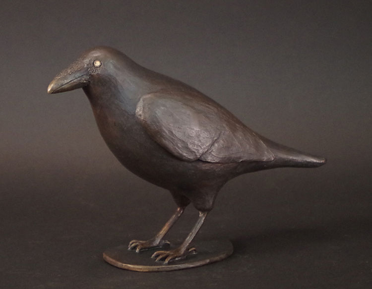 Country Raven by Robert E Gigliotti - search and link Sculpture with SculptSite.com