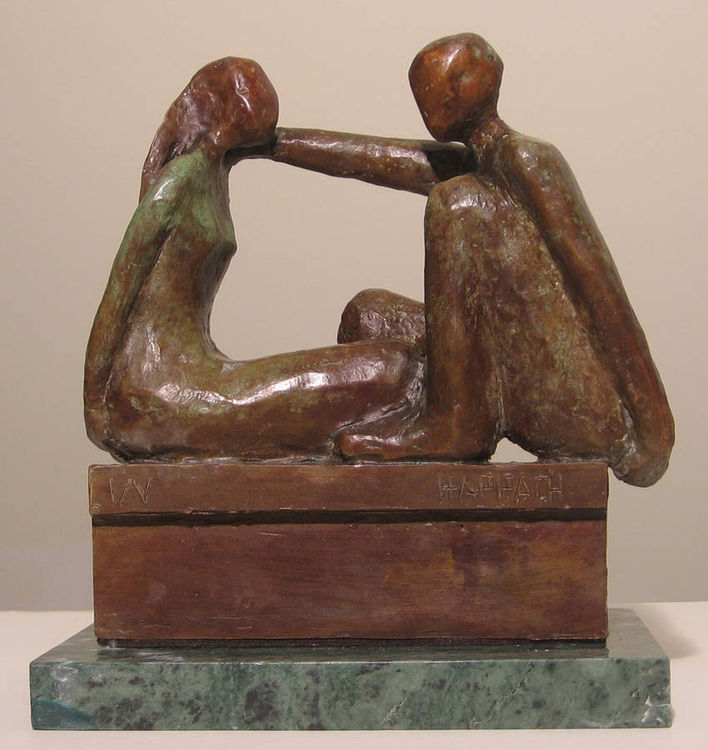 Just talking by Bozena Happach - search and link Sculpture with SculptSite.com