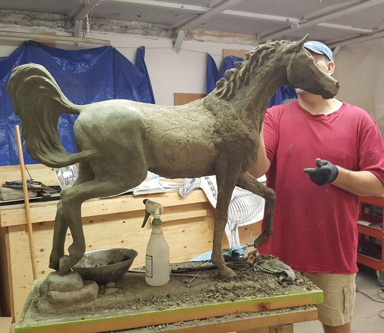 Concrete horse 2 by Edward Kitt - search and link Sculpture with SculptSite.com
