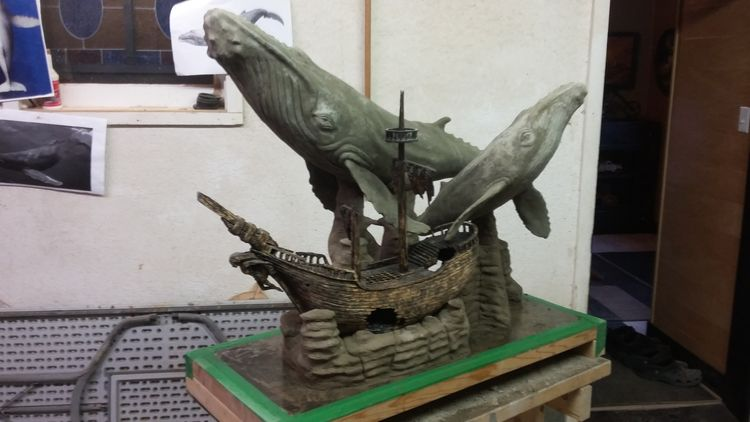 """""""The Ocean-Humpback Whale"""" by Edward Kitt - search and link Sculpture with SculptSite.com"""