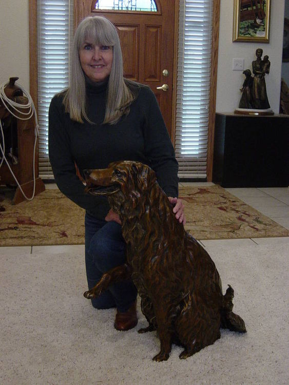 Annie the Railroad Dog by Dawn Weimer - search and link Sculpture with SculptSite.com