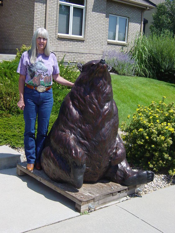 Bearly Serious by Dawn Weimer - search and link Sculpture with SculptSite.com