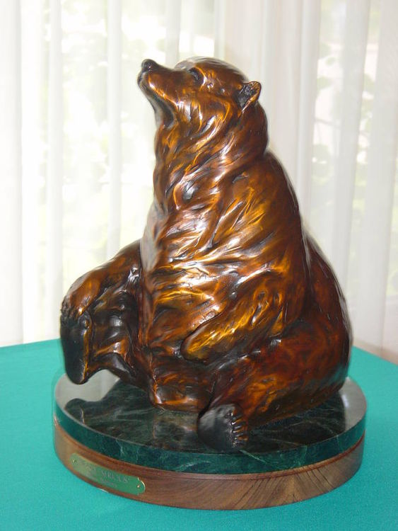 Bearly Serious - TS by Dawn Weimer - search and link Sculpture with SculptSite.com