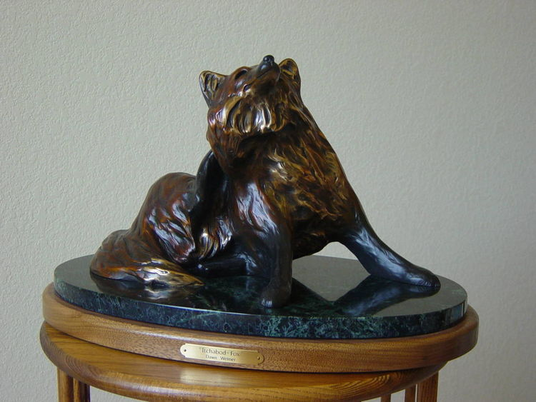 Itchabod Fox by Dawn Weimer - search and link Sculpture with SculptSite.com