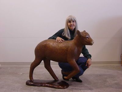 Rompin Lambkin by Dawn Weimer - search and link Sculpture with SculptSite.com