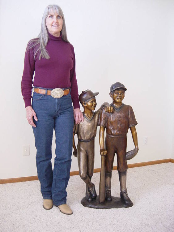 Baseball Buddies by Dawn Weimer - search and link Sculpture with SculptSite.com