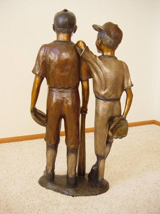 Baseball Buddies by Dawn Weimer - search and link Sculpture with SculptSite.com