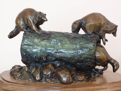Coon Tag by Dawn Weimer - search and link Sculpture with SculptSite.com