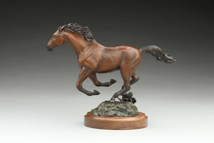 Mustang Morning by Deb Jenkins - search and link Sculpture with SculptSite.com
