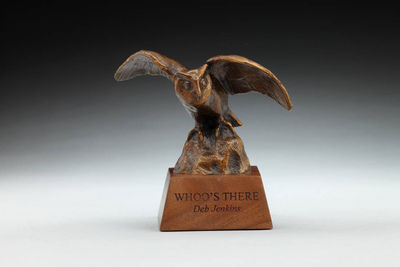 Whoo\'s There by Deb Jenkins - search and link Sculpture with SculptSite.com