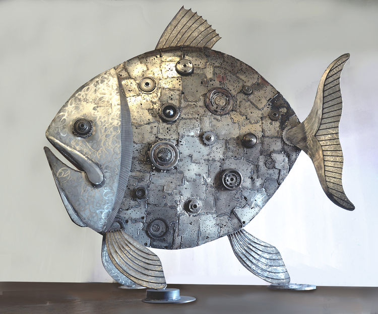 Celestial Fish by Donald Gialanella - search and link Sculpture with SculptSite.com