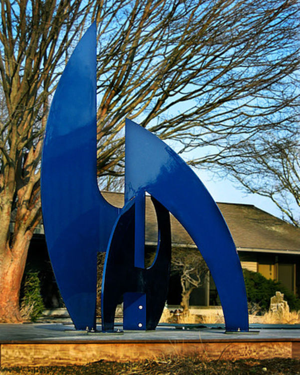After the Race II-8ft Buckingham Blue by Gilbert Boro - search and link Sculpture with SculptSite.com