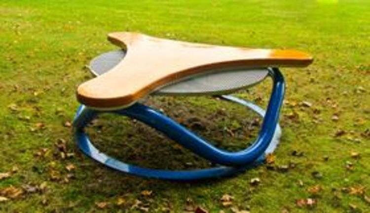 Helix Bench No 3a by Gilbert Boro - search and link Sculpture with SculptSite.com