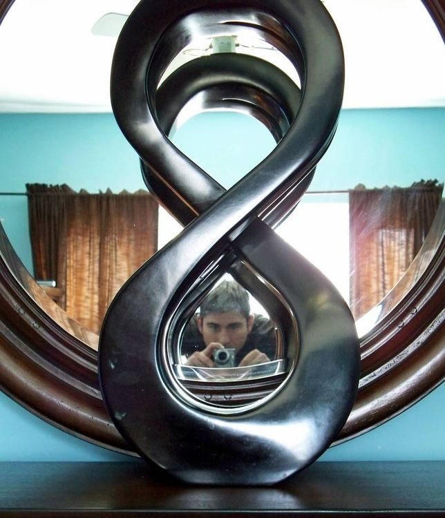 Mirror Image of Infinity  by Jason Nelson - search and link Sculpture with SculptSite.com