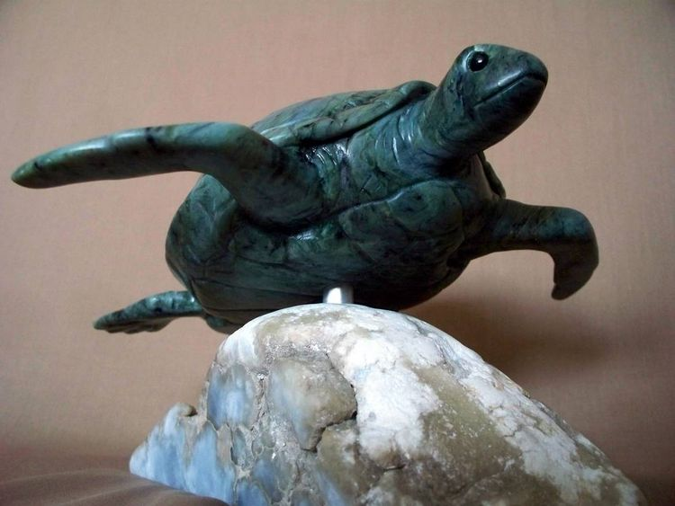 Green Sea Turtle by Jason Nelson - search and link Sculpture with SculptSite.com