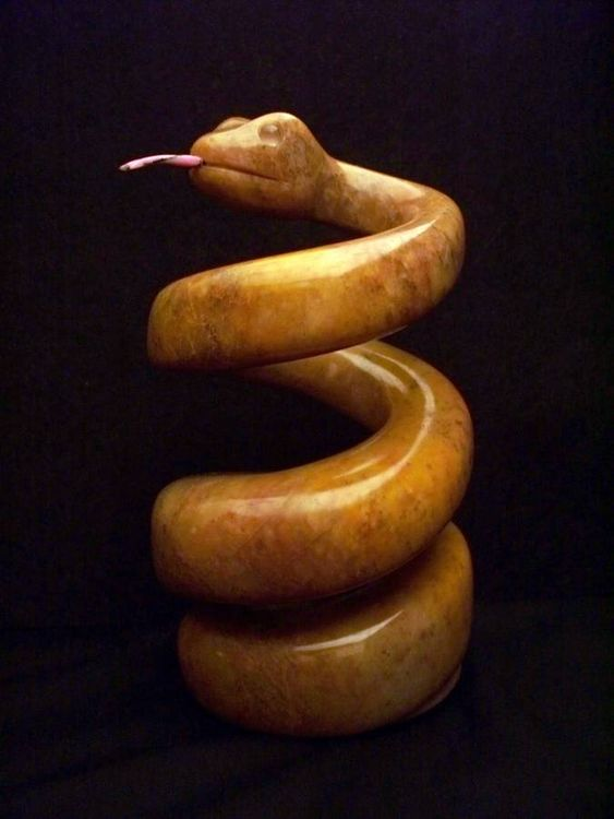 Coiled Snake by Jason Nelson - search and link Sculpture with SculptSite.com