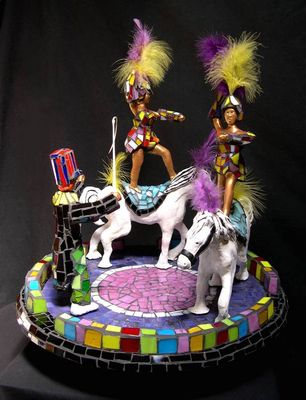 Circus Riders by Jill Nassau - search and link Sculpture with SculptSite.com