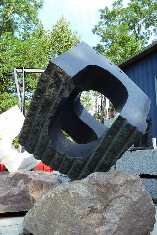 UNCARVED BLOCK WI: TAI CHI by Jon Barlow Hudson - search and link Sculpture with SculptSite.com