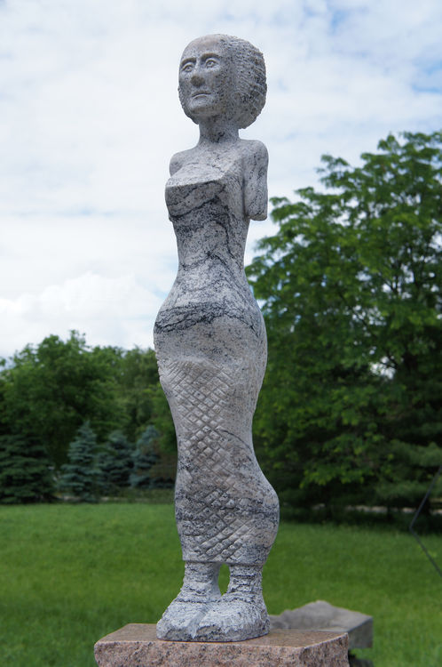 ETRUSCAN MAENAD : NH RAGAZZA by Jon Barlow Hudson - search and link Sculpture with SculptSite.com