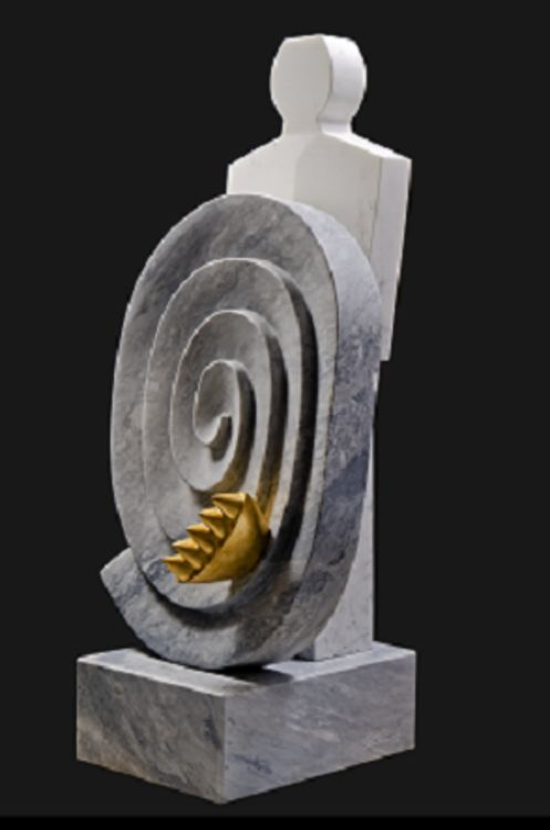 Vortex with Guardian by Jorge Romeo - search and link Sculpture with SculptSite.com