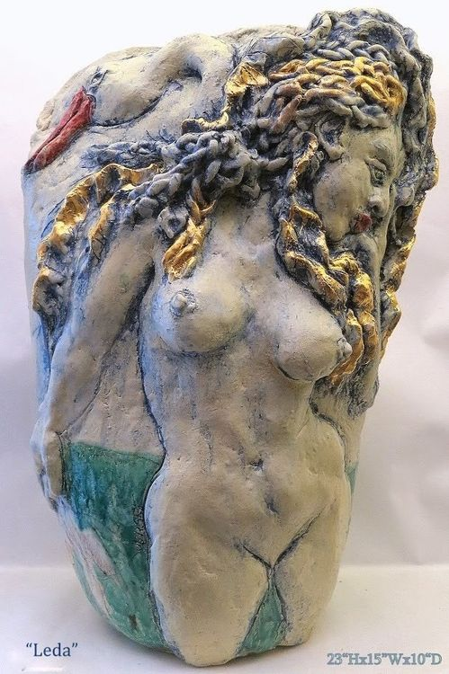 """""""Leda and the Swan"""" by Judith Unger - search and link Sculpture with SculptSite.com"""