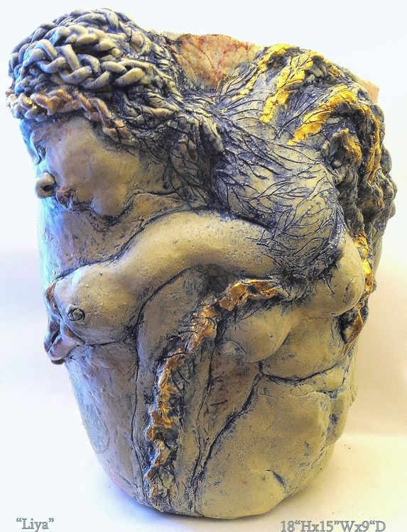 """""""Liya Swan Maiden"""" by Judith Unger - search and link Sculpture with SculptSite.com"""