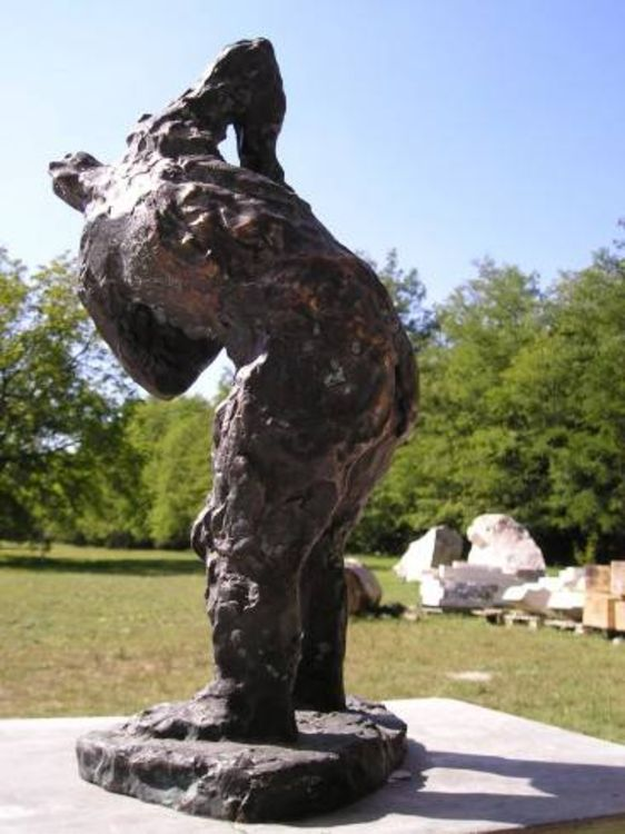 Inner Strength - the Untrodden Path by Eva Karcag - search and link Sculpture with SculptSite.com