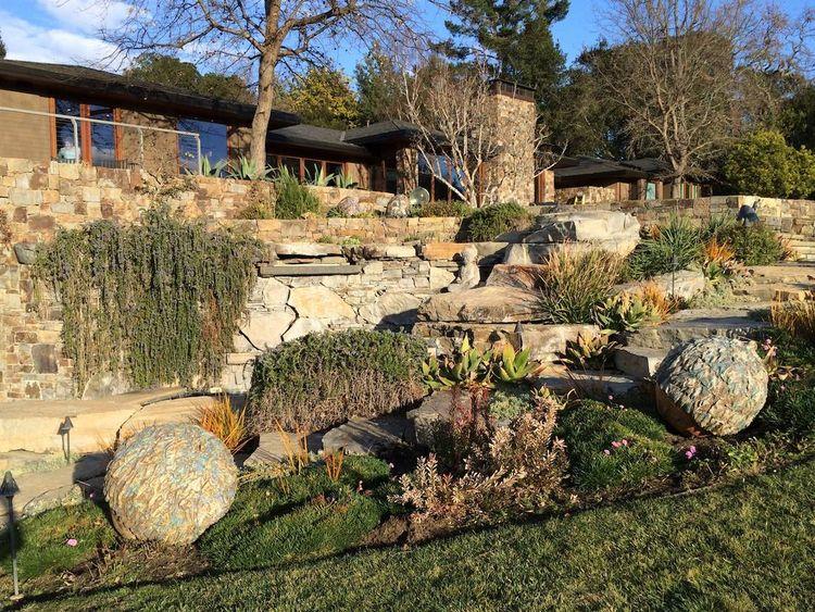 Rock Garden Art by Carol Fleming - search and link Sculpture with SculptSite.com