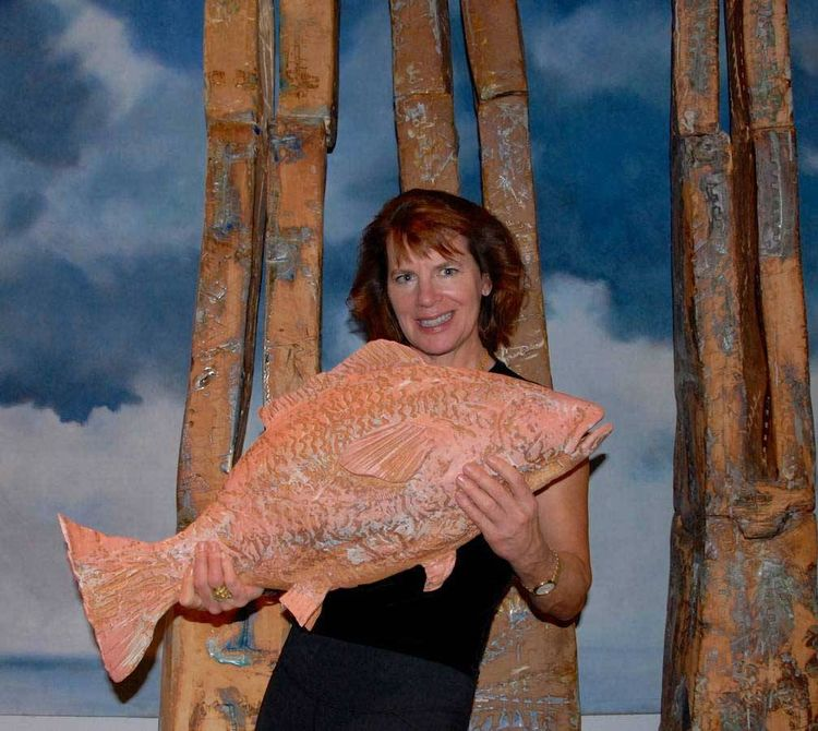 Red Snapper by Carol Fleming - search and link Sculpture with SculptSite.com