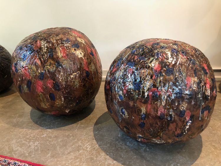 Glazed Spheres by Carol Fleming - search and link Sculpture with SculptSite.com