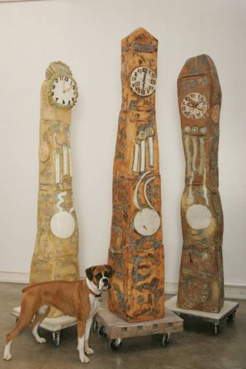 Grandfather Clock by Carol Fleming - search and link Sculpture with SculptSite.com