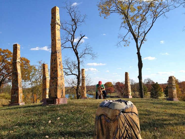 Stephens Lake, Look Out Point by Carol Fleming - search and link Sculpture with SculptSite.com