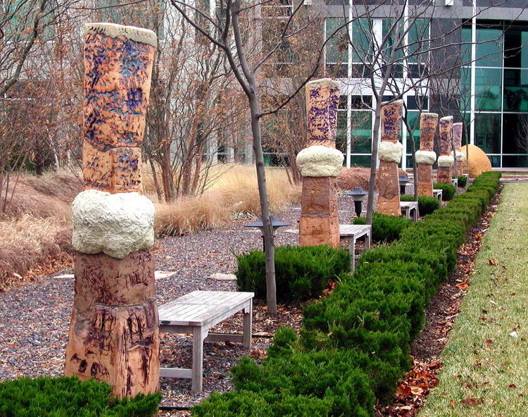 Riverport Commons by Carol Fleming - search and link Sculpture with SculptSite.com